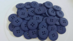 50 Navy Blue Matte Buttons, 15mm round