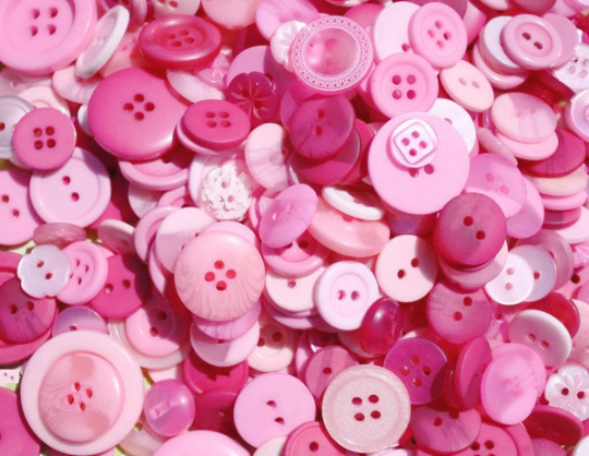 100 Pink Passion Buttons